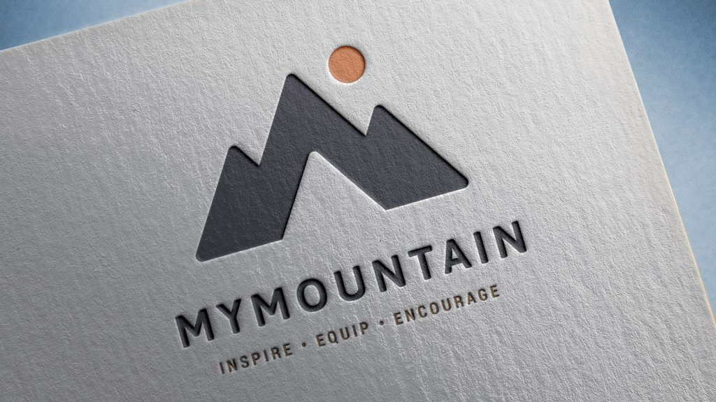 MyMountain logo as letterpress