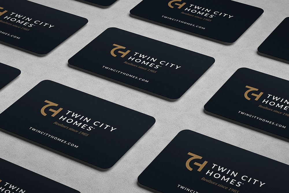 Twin City Homes business card