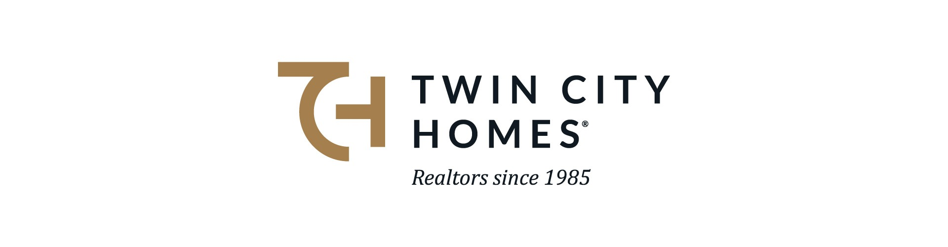 Twin City Homes logo in horizontal format with tagline