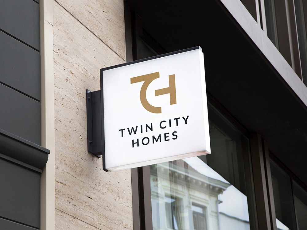 Twin City Homes outdoor signage