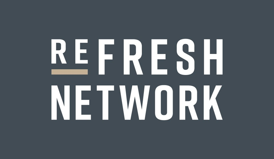 Refresh Network vertical logo